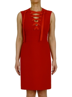 Lace Up Midi Dress by Gucci in Empire