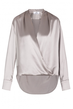 Silk Satin Wrap Blouse by Prabal Gurung in Suits