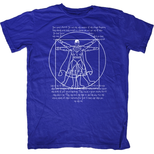 Vitruvian Superman T-Shirt by Fat Tee in The Big Bang Theory