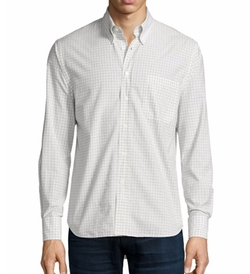 Woven Check Oxford Shirt by Billy Reid in How To Get Away With Murder