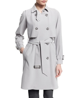 Calvary Double-Breasted Trenchcoat by Armani Collezioni in Suits