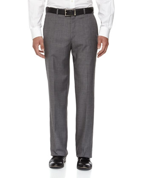 Flat-Front Wool Sharkskin Pants by Neiman Marcus in Fight Club