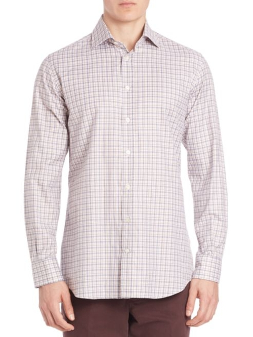 Plaid Sport Shirt by Luciano Barbera in The Bachelorette - Season 12 Episode 7