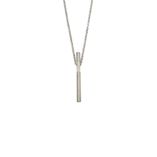 Silver Bar Pendant Necklace by V By Valkeniers in Pretty Little Liars - Season 6 Episode 5