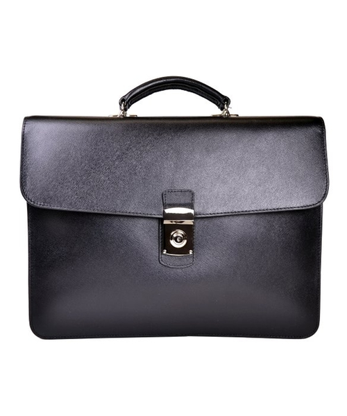 Luxury Slim Briefcase In Saffiano Leather With Suede Lining by Royce Leather in Suits - Season 5 Episode 9