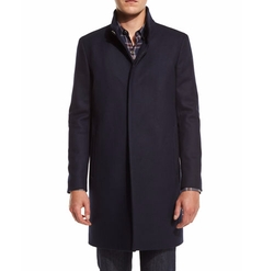 Belvin Single-Breasted Coat by Theory in Power