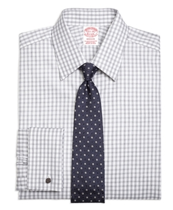 Madison Gingham Dress Shirt by Brooks Brothers in New Girl