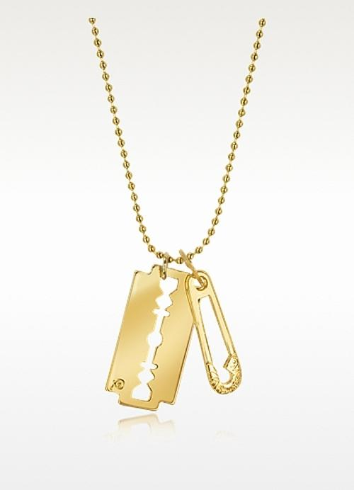 Razor Pendant Necklace by Mcq Alexander Mcqueen in Get On Up
