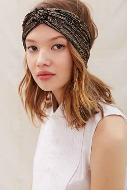 Recycled Lurex Headband by Urban Renewal in Black or White