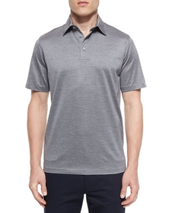 Cotton-Silk Polo Shirt by Ermenegildo Zegna in Empire