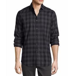Buffalo Check Woven Sport Shirt by The Good Man Brand in Modern Family