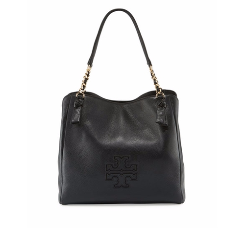 Harper Center-Zip Leather Tote Bag by Tory Burch in Animal Kingdom - Season 2 Preview