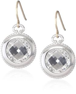 Classics Rock Crystal Single Drop Earrings by Monica Rich Kosann in Mortdecai