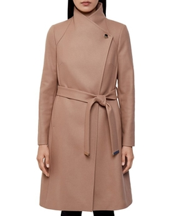 Aurore Long Wrap Coat by Ted Baker in Designated Survivor