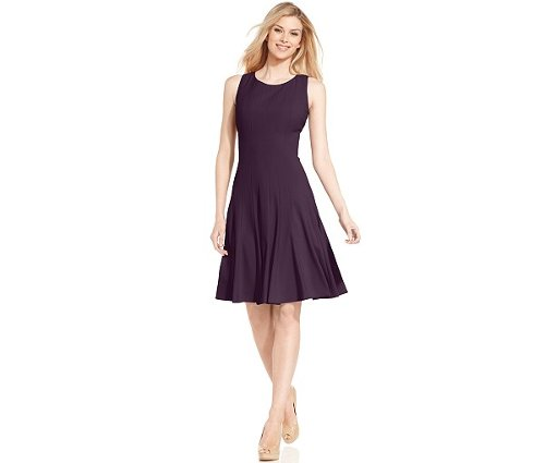 Sleeveless Pleated A-Line Dress by Calvin Klein in The Best of Me