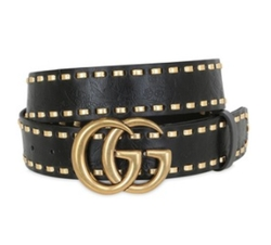 GG Marmont Leather Belt by Gucci in Dynasty