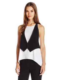 Marcelle Tank with Attached Vest by BCBGMAXAZRIA in Mistresses