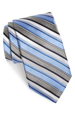 Stripe Silk Tie by Michael Kors in Wanted