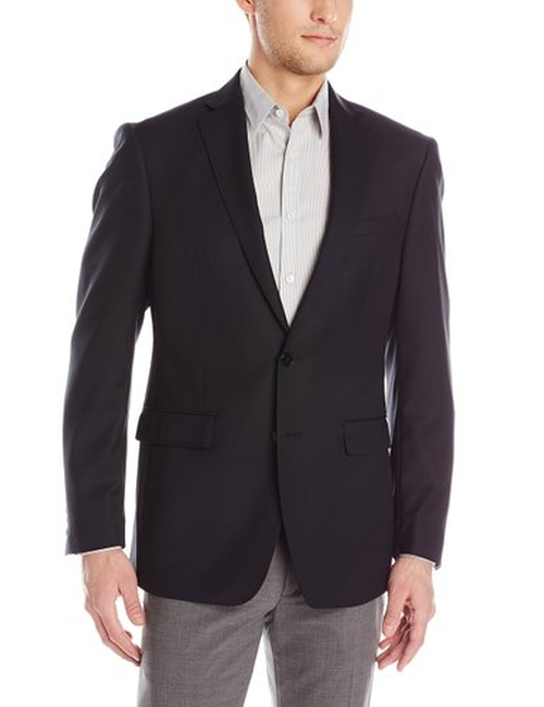 Men's Melborn 2 Button Side Vent Sport Coat by Calvin Klein in Grease