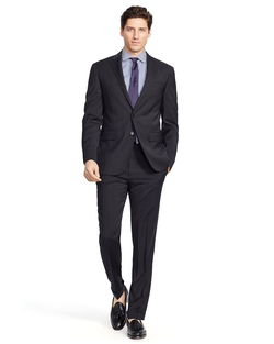Polo Striped Wool Suit by Ralph Lauren in The Good Wife