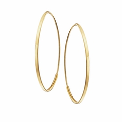 Small Flat Oval Magic Hoop Earrings by Lana in Empire