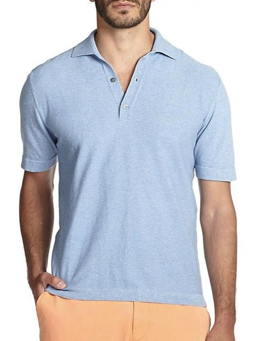 Memphis Cotton Pique Polo Shirt by Saks Fifth Avenue Collection in Vacation
