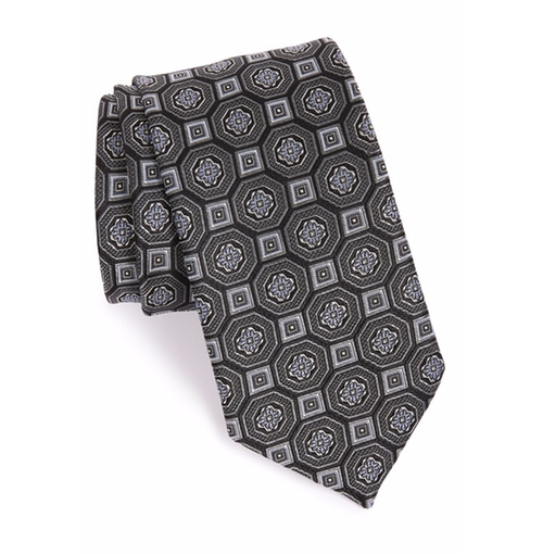 Medallion Silk Tie  by John W. Nordstrom in Billions - Season 1 Episode 8