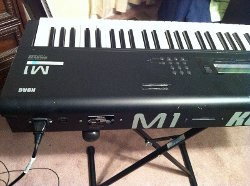 M1 Workstation Keyboard by Korg in If I Stay