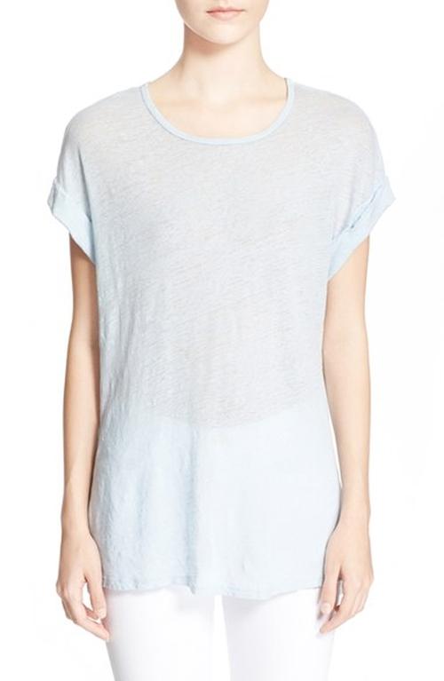 'Le Muscle' Linen Tee Shirt by Frame Denim in Pretty Little Liars - Season 6 Episode 2