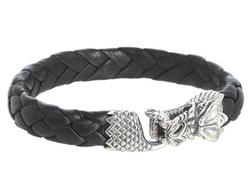 Leather Bracelet With Small Dragon Clasp by King Baby Studio in A Walk in the Woods