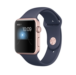 Rose Gold & Midnight Blue Watch by Apple in Jason Bourne