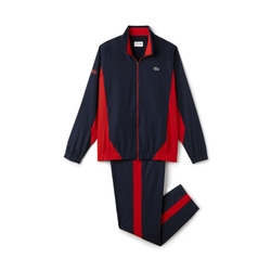 Men's Sport Taffeta Color Block Tennis Tracksuit by Lacoste in Scream Queens