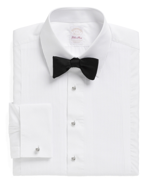Swiss Pleat French Cuff Tuxedo Shirt by Brooks Brothers in The Second Best Exotic Marigold Hotel