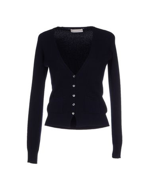 V-Neck Cardigan Sweater by Stefanel in Easy A