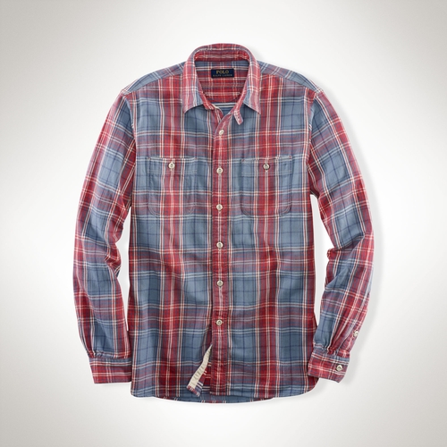 Plaid Cotton Twill Workshirt by Ralph Lauren in A Walk in the Woods
