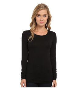 Lightweight Viscose Crew Neck Long Sleeve T-Shirt by Three Dots in If I Stay
