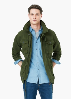 Concealed Hood Field Jacket by Mango in Christmas Vacation