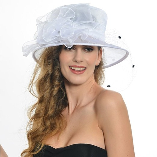 Women Church Kentucky Derby Voile Dress Hats by Fanny in Clueless