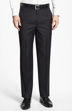 Flat Front Wool Trousers by Santorelli in Sleeping with Other People