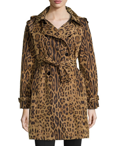 Leopard-Print Trench Raincoat by Jane Post in American Horror Story - Season 5 Episode 12