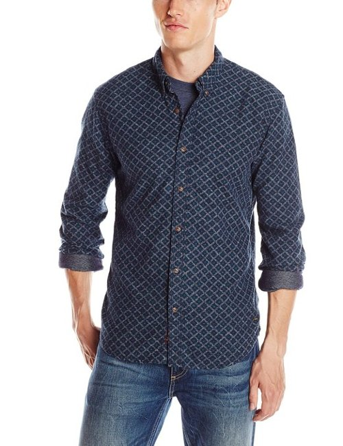 Men's All-Over Print Button Down Shirt by Scotch & Soda in Top Five