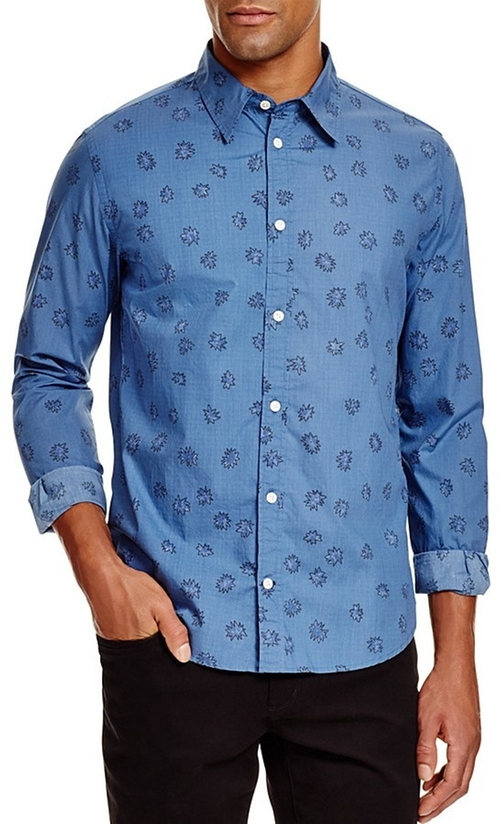 Jeans Pow Print Slim Fit Button Down Shirt by Paul Smith in Batman v Superman: Dawn of Justice