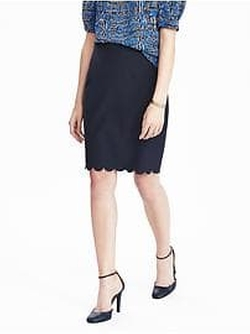 Scalloped Pencil Skirt by Banana Republic in Riverdale