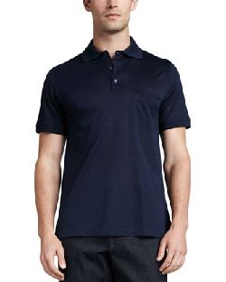 Pique Classic Polo, Navy by Brioni in Million Dollar Arm