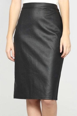Leather Pencil Skirt by Very J in Chelsea