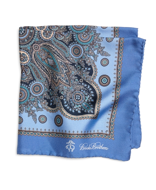 Paisley Pocket Square by Brooks Brothers in Suits - Season 5 Episode 6