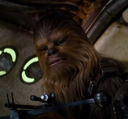 Custom Made Chewbacca Costume by Michael Kaplan (Costume Designer) in Star Wars: The Force Awakens