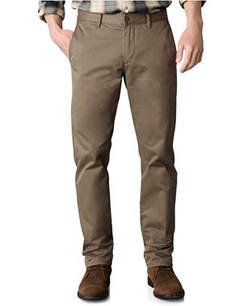 Tapered Fit Alpha Khaki Flat Front Pants by Dockers in The Secret Life of Walter Mitty