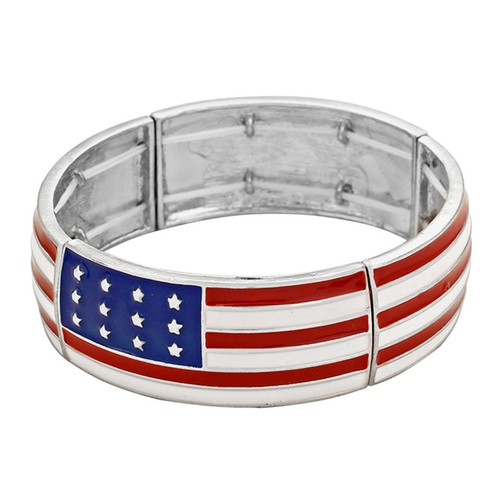 Flag Stretch Bangle Bracelet by Rosemarie Collections in Forgetting Sarah Marshall