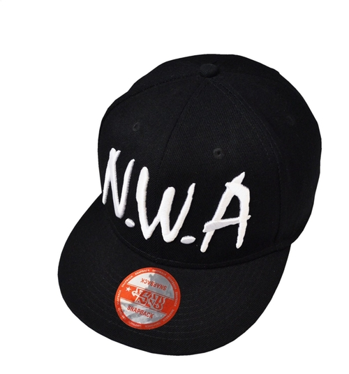 NWA Black Snapback Baseball Cap by Underground Kulture in Straight Outta Compton